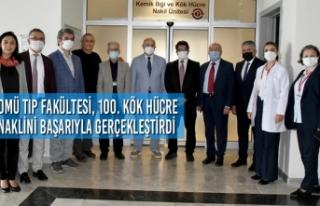 OMÜ Tıp Fakültesi, 100. Kök Hücre Naklini Başarıyla...