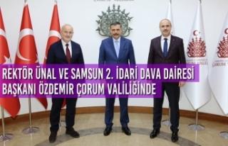 Rektör Ünal ve Samsun 2. İdari Dava Dairesi Başkanı...
