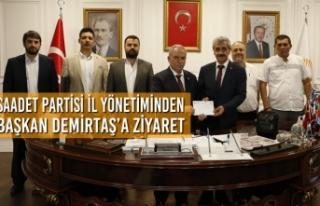 Saadet Partisi İl Yönetiminden Başkan Demirtaş'a...
