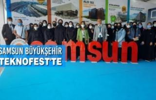 Samsun Büyükşehir Teknofest'te