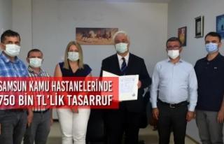 Samsun Kamu Hastanelerinde 750 Bin TL'lik Tasarruf