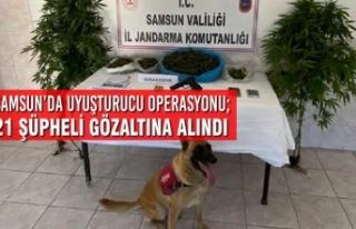 Samsun'da Uyuşturucu Operasyonu; 21 Şüpheli Gözaltına...