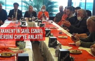 Yakakent'in Sahil Esnafı, Derdini CHP'ye...
