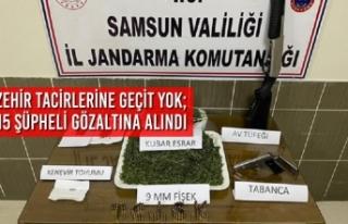 Samsun'da Zehir Tacirlerine Geçit Yok; 15 Şüpheli...