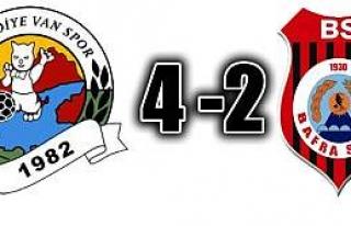 Belediye Vanspor:4 -1930 Bafraspor:2