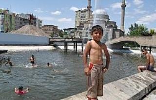 Kayseri Limanı, Çocuklara Havuz Oldu