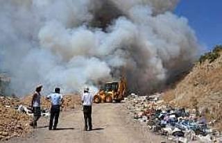 Simav'da Korkutan Çöplük Yangını Halen Devam...