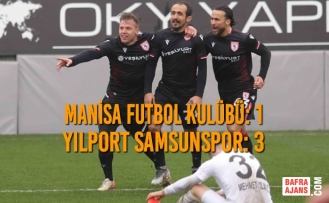 Manisa Futbol Kulübü: 1 - Yılport Samsunspor: 3