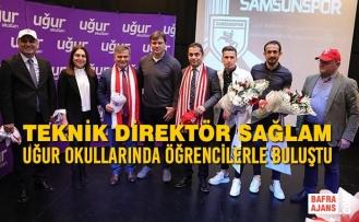 Teknik Direktör Sağlam ve Futbolcular Öğrencilerle Buluştu