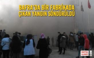 Bafra'da Bir Fabrikada Çıkan Yangın Söndürüldü