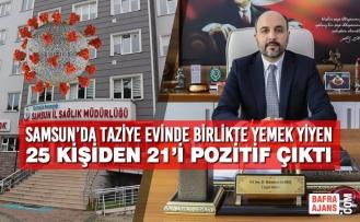 Samsun'da Taziye Evinde Birlikte Yemek Yiyen 25 Kişiden 21'i Pozitif Çıktı