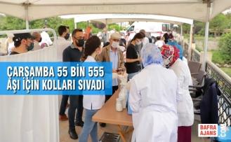 Çarşamba 55 Bin 555 Aşı İçin Kolları Sıvadı