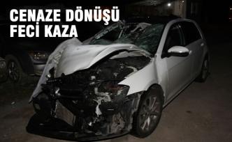 Cenaze Dönüşü Trafik Kazası: 1 Ölü, 4 Yaralı