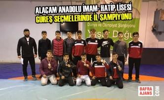 Alaçam Anadolu İmam- Hatip Lisesi Güreş İl Şampiyonu