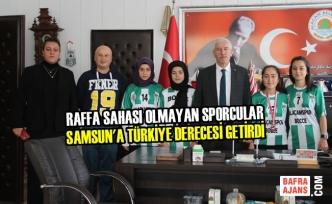 Raffa Sahası Olmayan Sporcular Samsun'a Türkiye Derecesi Getirdi