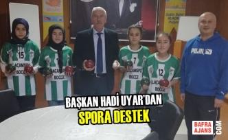 Başkan Hadi Uyar'dan Spora Destek