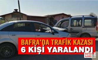 Bafra'da Trafik Kazası: 6 Yaralı