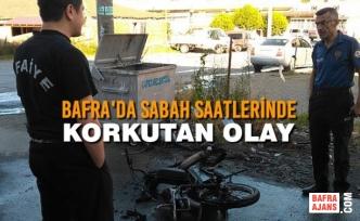 Bafra'da Sabah Saatlerinde Korkutan Olay