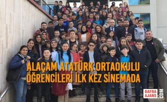 Alaçam Atatürk Ortaokulu Öğrencileri İlk Kez Sinemada