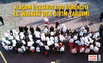Alaçam İlçesinde 300 Öğrenciye LC WAİKİKİ'den Giyim Yardımı