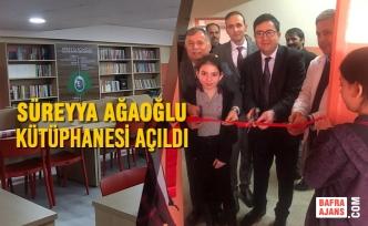 Alaçam'da Süreyya Ağaoğlu Kütüphanesi Açıldı