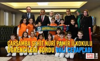 Çarşamba Şehit Nuri Pamir İlkokulu Öğrencileri Sordu Vali Cevapladı