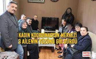 Kadın Koordinasyon Merkezi 3 Ailenin Yüzünü Güldürdü