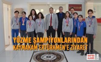 Yüzme Şampiyonlarından Kaymakam Ertürkmen'e Ziyaret