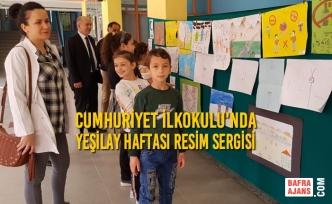 Cumhuriyet İlkokulunda Yeşilay Haftası Resim Sergisi