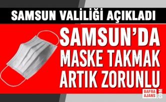 Samsun'da Maske Takmak Artık Zorunlu