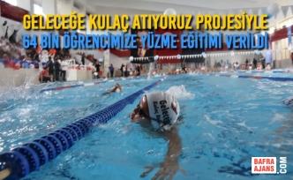 Geleceğe Kulaç Atıyoruz Projesiyle 64 Bin Öğrencimize Yüzme Eğitimi Verildi