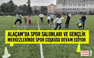 Alaçam'da Spor Salonları ve Gençlik Merkezlerinde Spor Coşkusu Devam Ediyor