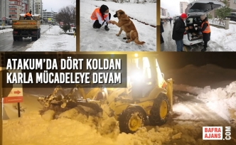 Atakum Belediyesi, Kar Mücadelesini Sürdürüyor