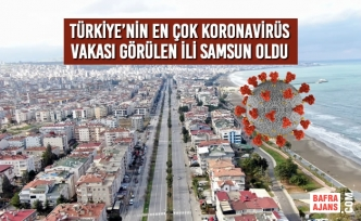 Türkiye'nin En Çok Vaka Görülen İli Samsun Oldu