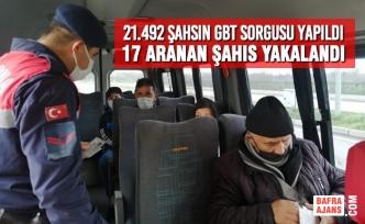 21.492 Şahsın GBT Sorgusu Yapıldı, 17 Aranan Şahıs Yakalandı