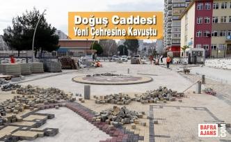 Atakum Belediyesi'nden Doğuş Caddesi'ne sanatsal dokunuş
