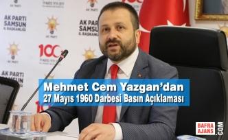Mehmet Cem Yazgan'dan 27 Mayıs 1960 Darbesi Basın Açıklaması