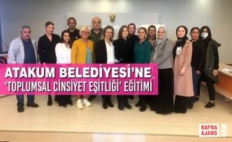 Atakum Belediyesi'ne 'Toplumsal Cinsiyet Eşitliği' Eğitimi