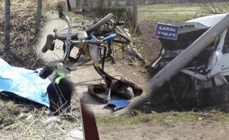 Minibüsün Çarptığı Bisikletli Yaşamını Yitirdi