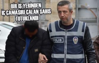 Bir İş Yerinden İç Çamaşırı Çalan Şahıs Tutuklandı