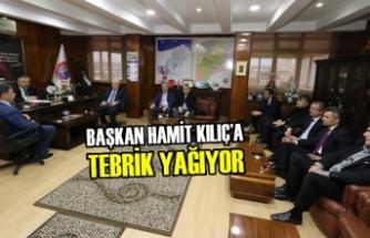 Başkan Hamit Kılıç'a Tebrik Yağıyor