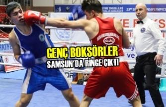 Genç Boksörler Samsun'da Ringe Çıktı