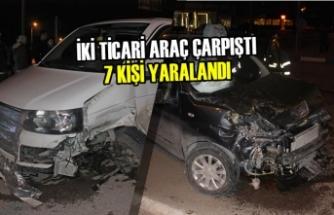 Tokat'ta İki Ticari Araç Çarpıştı: 7 Yaralı