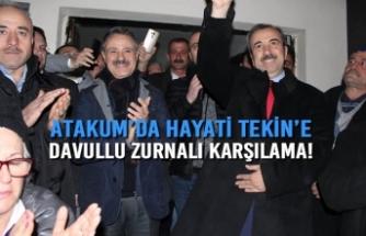 Atakum'da Hayati Tekin'e davullu zurnalı karşılama!