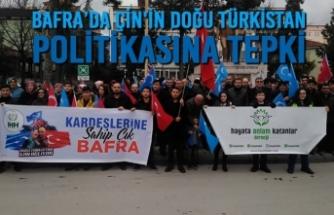 Bafra'da Çin'in Doğu Türkistan Politikasına Tepki