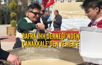 Bafra İHH Derneği'nden Çanakkale'den Yemen'e