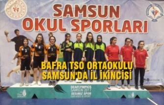 Bafra TSO Orta Okulu Samsun'da İl İkincisi Başarısı