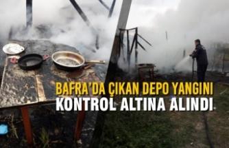 Bafra'da Çıkan Depo Yangını Kontrol Altına Alındı