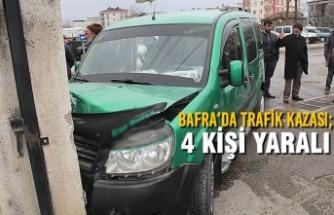 Bafra'da Trafik Kazası ; 4 Yaralı