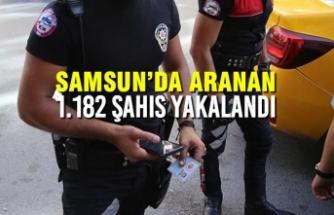 Samsun'da Aranan 1.182 Şahıs Yakalandı
